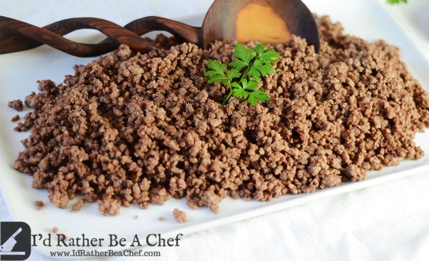 Seasoned ground beef recipe id rather be a chef easy seasoned ground beef recipe forumfinder Images