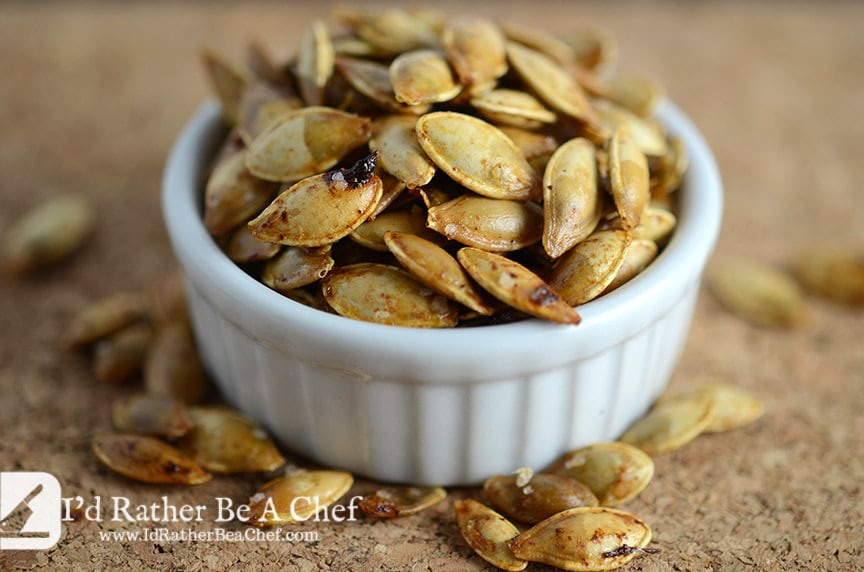 butter roasted pumpkin seeds are delicious