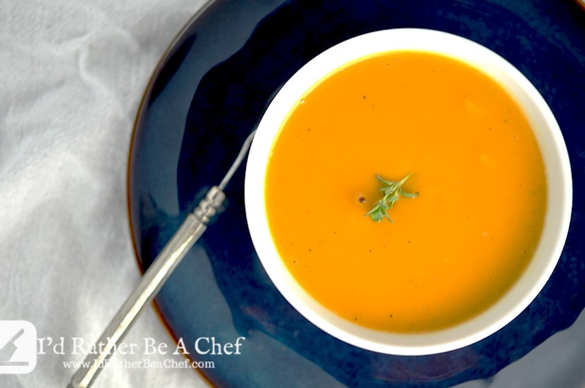 Butternut Squash Soup Recipe   I'd Rather Be A Chef