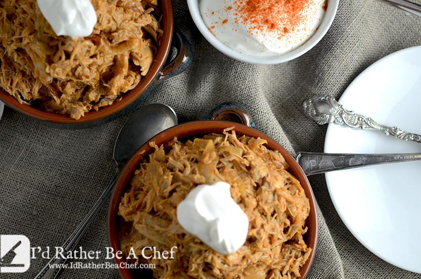 shredded chicken paprikash recipe for dinner