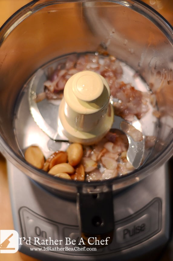 roasted garlic and shallots for the cauliflower puree