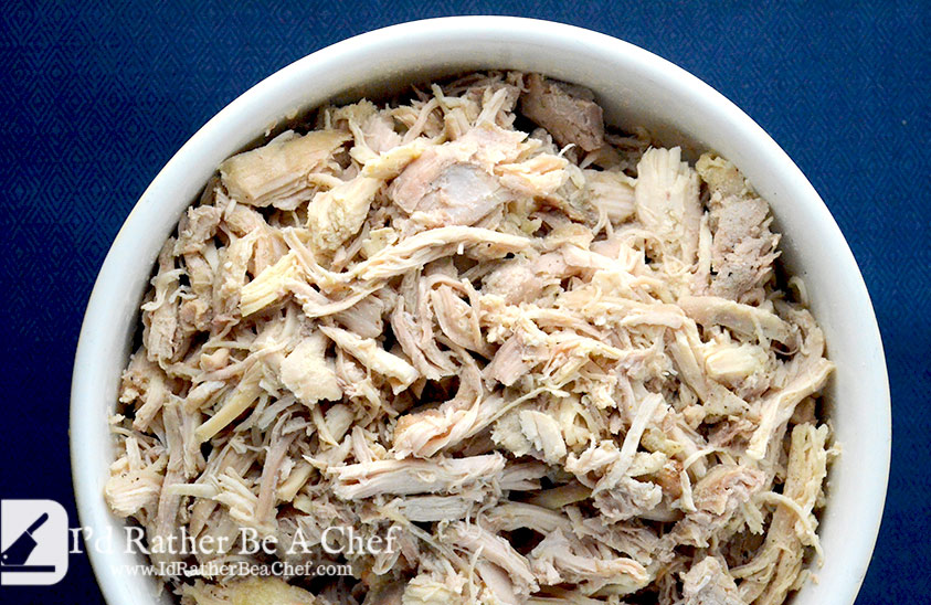shredded chicken recipe completed