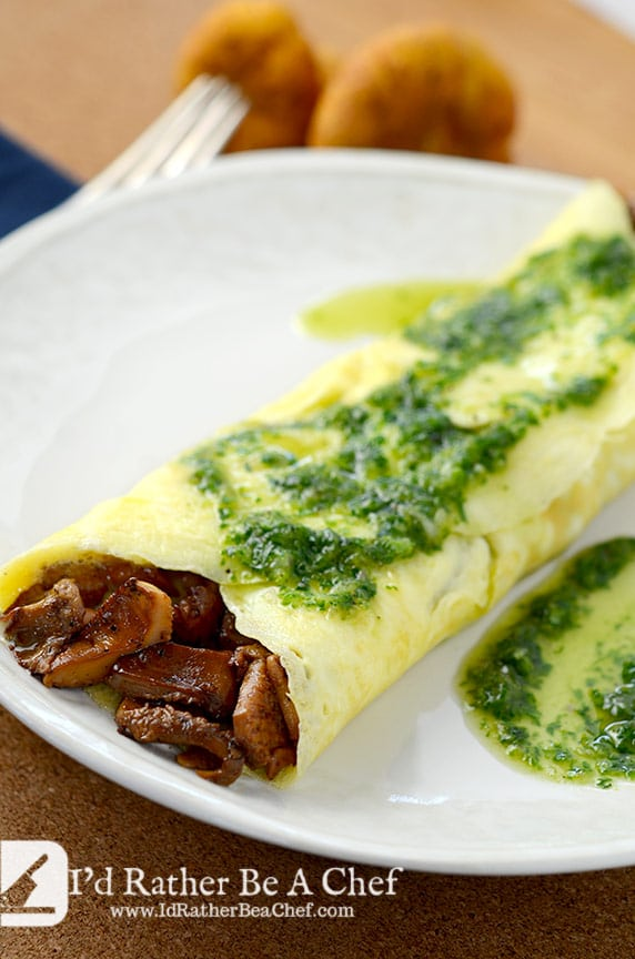 Wild Mushroom Omelette Recipe | I'd Rather Be A Chef